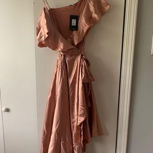 NEW Fashion Nova Satin Mauve Midi Dress